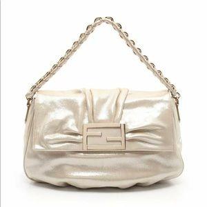 FENDI Metallic Chain Shoulder Bag